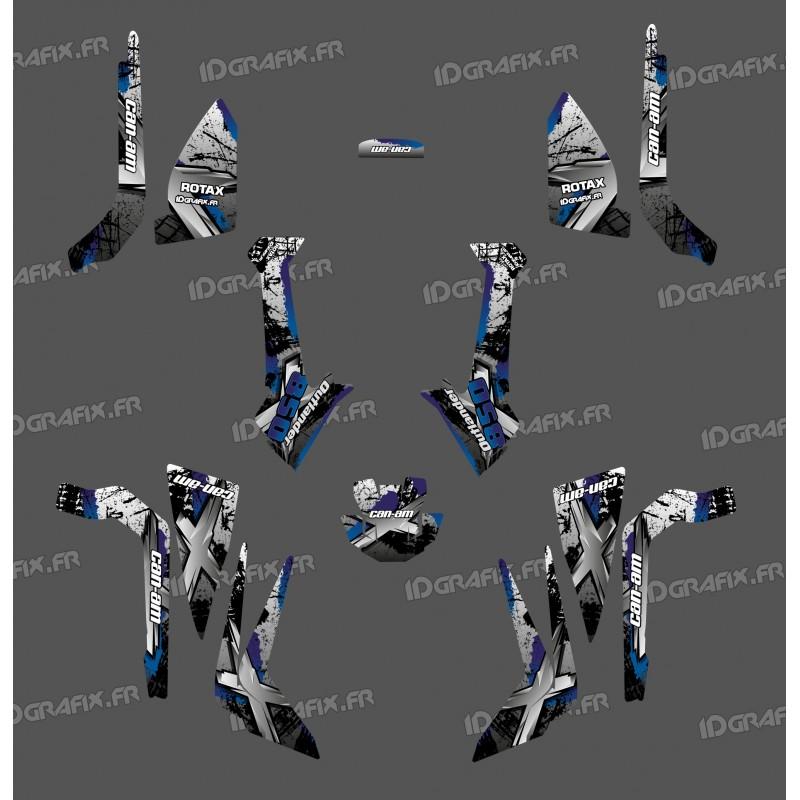 Kit décoration Brush Series (Gris) Medium - IDgrafix - Can Am Outlander (G2)-idgrafix
