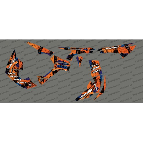 Kit décoration Brush Series Full (Orange)- IDgrafix - Can Am Renegade-idgrafix