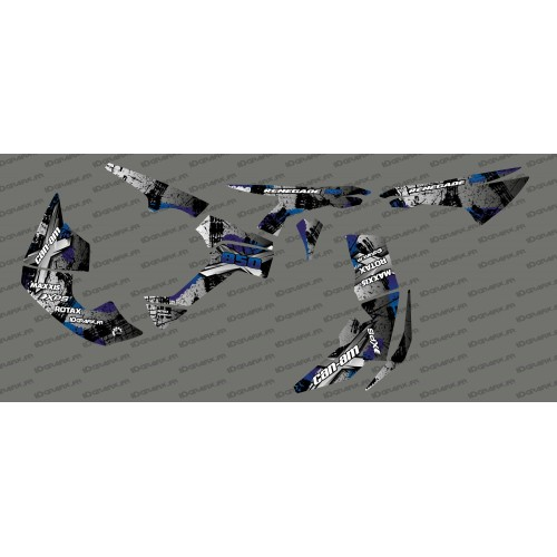 Kit décoration Brush Series Full (Gris/Bleu)- IDgrafix - Can Am Renegade