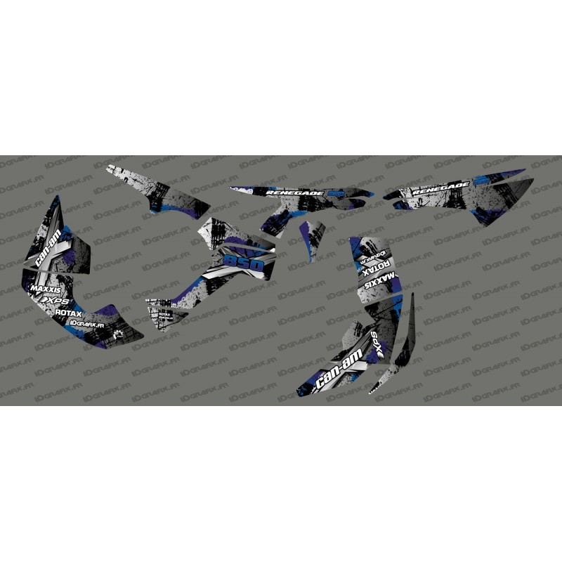 Kit décoration Brush Series Full (Gris/Bleu)- IDgrafix - Can Am Renegade-idgrafix