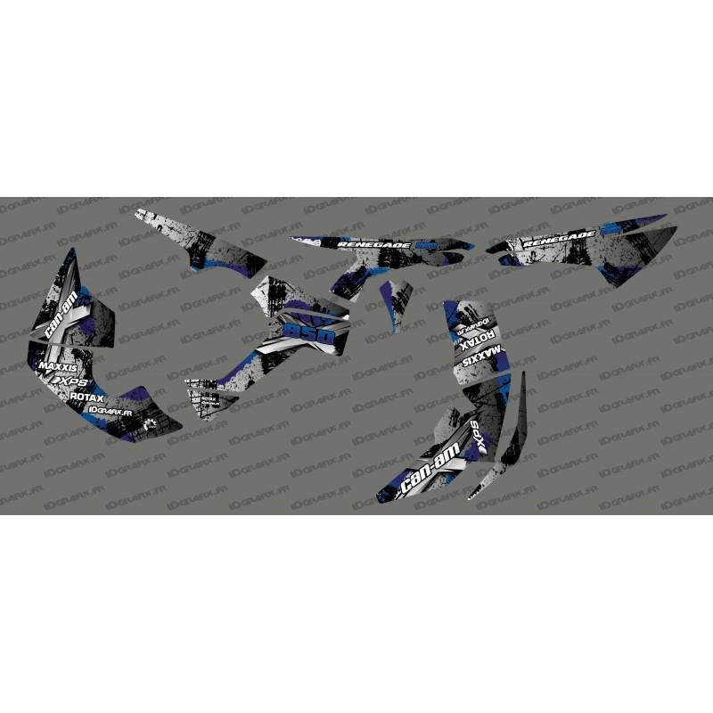 photo du kit décoration - Kit décoration Brush Series Full (Gris)- IDgrafix - Can Am Renegade