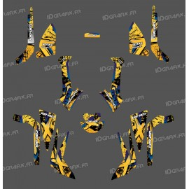 Kit décoration Brush Series (Jaune) Medium - IDgrafix - Can Am Outlander (G2)