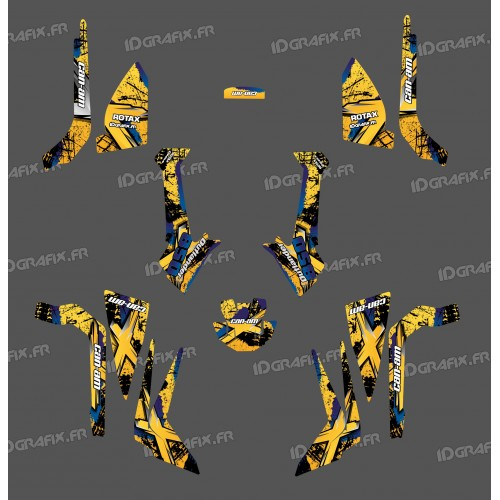 Kit décoration Brush Series (Jaune) Medium - IDgrafix - Can Am Outlander (G2)-idgrafix