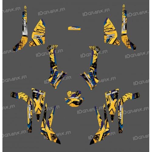 foto del kit, Kit de decoración para la decoración del Cepillo de la Serie (Amarillo) Medio - IDgrafix - Can Am Outlander (G2)