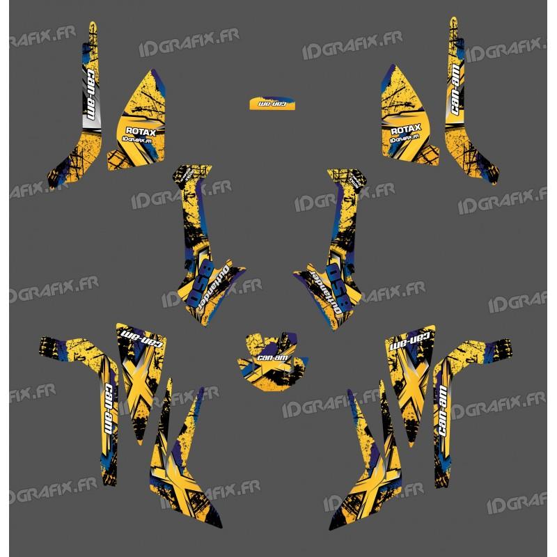 Kit décoration Brush Series (Jaune) Medium - IDgrafix - Can Am Outlander (G2)-idgrafix