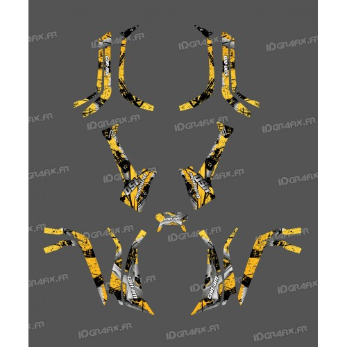 Kit decoration Light Brush (Yellow) - IDgrafix - Can Am series The Outlander - IDgrafix