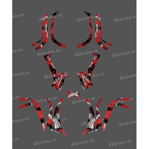 Kit decoration Light Brush (Red) - IDgrafix - Can Am series The Outlander - IDgrafix