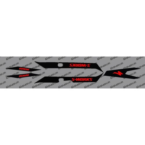 Kit deco Luce Nera (ROSSO)- Specialized Turbo Levo SWORKS -idgrafix
