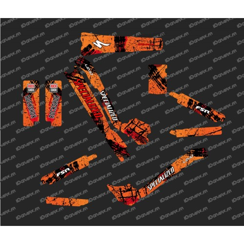 Kit déco Brush Edition Full (Orange) - Specialized Turbo Levo-idgrafix