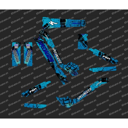 Kit deco Brush Edition Full (Blue) - Specialized Turbo Levo-idgrafix
