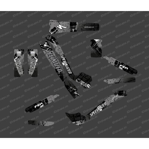 Kit deco Brush Edition Full (Black/Grey) - Specialized Turbo Levo-idgrafix