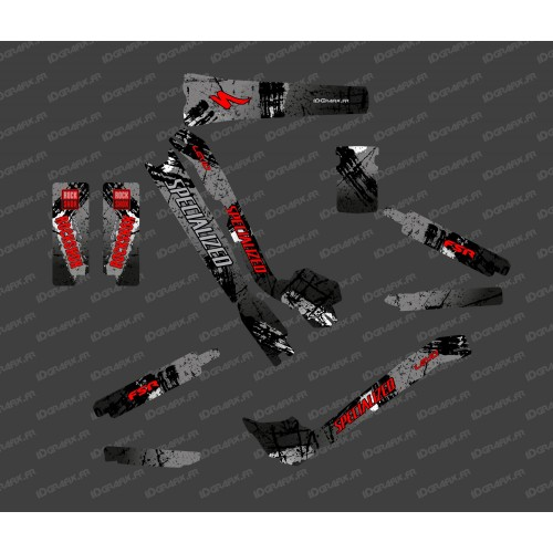 Kit deco Brush Edition Full (Black/Red) - Specialized Turbo Levo - IDgrafix