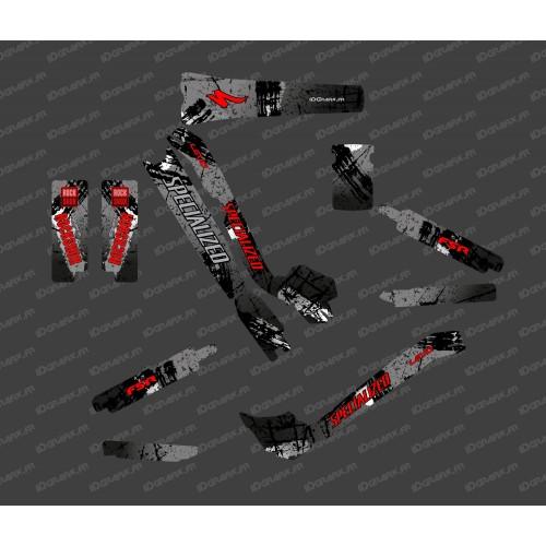 Kit deco Pennello Edizione Completa (Nero/Rosso) - Specialized Turbo Levo -idgrafix