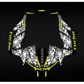 Kit dekor Camo-Serie Gelb - Idgrafix - Can Am Maverick 1000 -idgrafix