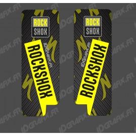 Adesivi Protezione Forcella RockShox Carbonio (Giallo) - Specialized Turbo Levo -idgrafix