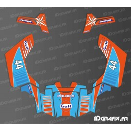 Kit décoration Réplica Gulf - IDgrafix - Polaris RZR 800S / 800 (option Portes)-idgrafix