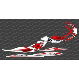 Kit décoration Rock Blanc/Rouge pour Seadoo RXP-X 260 / 300-idgrafix