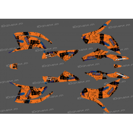 Kit décoration Brush Edition Orange (Full) - IDgrafix - TGB Target-idgrafix