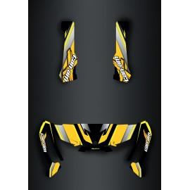 Kit dekor X-team-Edition Gelb - IDgrafix - Can-Am Traxter -idgrafix