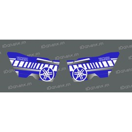Kit-deco-Türen Vintage (Blau/Weiß) - Yamaha YXZ 1000 -idgrafix