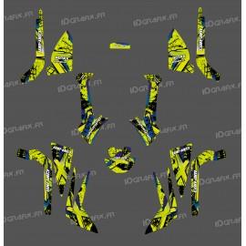 Kit de decoración de Cepillo de la Serie (Amarillo-Verde) Medio - IDgrafix - Can Am Outlander (G2) -idgrafix