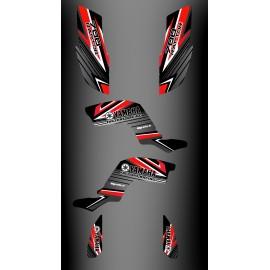 Kit de decoración de Fábrica Edición Rojo - IDgrafix - Yamaha Raptor 700