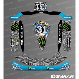 Kit deco 100% Custom Block 2017 series for Karting TONY-idgrafix