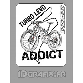 Sticker 7,5x6cm - Turbo Levo Addict -idgrafix
