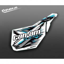Kit dekor-Tür-Original-XTeam (Blau Octane) - IDgrafix - Can Am -idgrafix