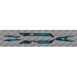 Kit deco CARBONI Edició de la Llum (Blau)- Especialitzada Turbo Levo -idgrafix