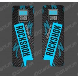Adesivi Protezione Forcella RockShox Carbonio (Blu) - Specialized Turbo Levo -idgrafix