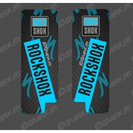 Stickers Protection Fork RockShox Carbon (Blue) - Specialized Turbo Levo - IDgrafix