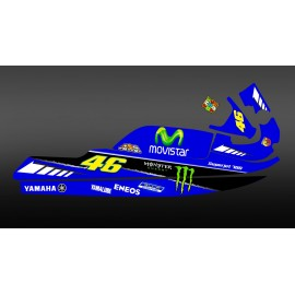 Kit decoration 100% custom Rossi replica for Yamaha Superjet 700 - IDgrafix