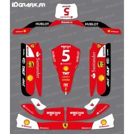 Kit deco 100% Custom Scuderia F1 for Karting Tony Kart M4 - IDgrafix
