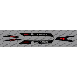Kit déco Black Light (RED)- Specialized Turbo Levo - SWORKS-idgrafix