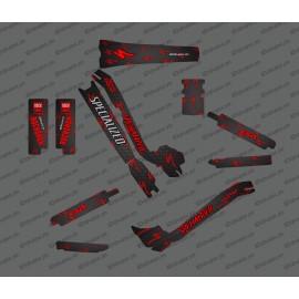 Kit deco Carboni Edició Completa (Vermell) - Especialitzada Turbo Levo -idgrafix
