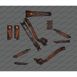 Kit deco Carboni Edició Completa (Taronja) - Especialitzada Turbo Levo -idgrafix