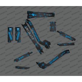 Kit deco di Carbonio, Edizione Completa (Blu) - Specialized Turbo Levo -idgrafix