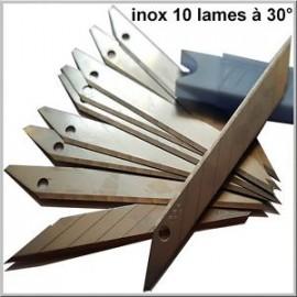 Boite 10 Lames biseau à 30° spécial covering/kit deco-idgrafix