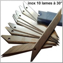 Box 10 Blades bevel to 30° special covering/kit deco-idgrafix