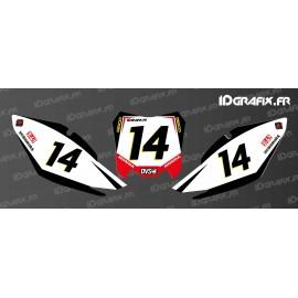 Kit de decoración de Número de la Placa de Geico Edición - Honda CR/CRF -idgrafix