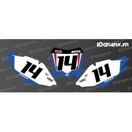 Kit decorazione Numero di Targa HRC Edizione - Honda CR/CRF -idgrafix