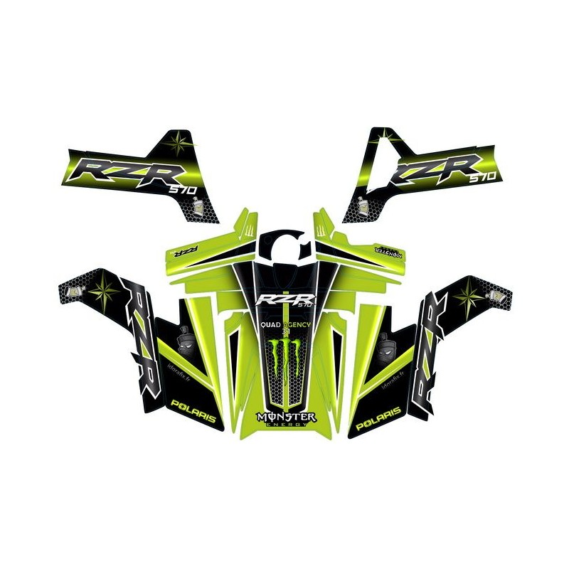 Kit deco replikat Pace Car Monster PDV - Polaris RZR 570 -idgrafix