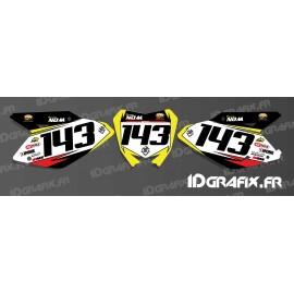 Kit decorazione Numero di Targa MX Edizione - Suzuki RM/RMZ -idgrafix