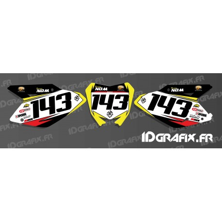 Kit de decoració Placa Nombre MX Edició - Suzuki RM/RMZ -idgrafix