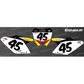 Kit decoration Plate Number Stewart Replica - Suzuki RM/RMZ - IDgrafix