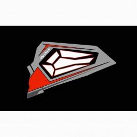 Kit dekor Tür-Bass, Original Polaris Titanium RED - IDgrafix - Polaris RZR 900/1000 -idgrafix