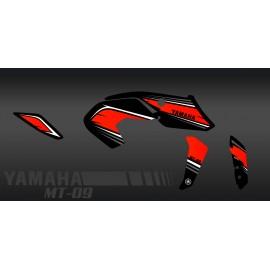 Kit de decoració de Curses de color vermell - IDgrafix - Yamaha MT-09 (després de 2017) -idgrafix