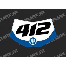 Kit deco 100 % Personalizzato Piastra Anteriore Yamaha WRF - M. Mercier -idgrafix