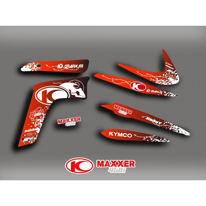 Kit-Deco-Cráneo Rojo Kymco 450 Maxxer -idgrafix